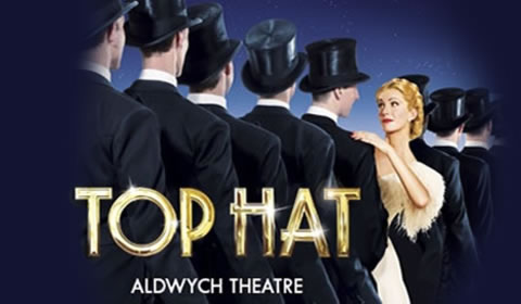 Poster of Top Hat at Aldwych Theatre
