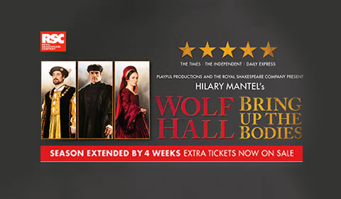 Poster of Wolf Hall at Aldwych Theatre