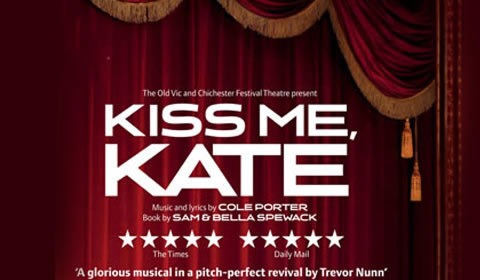 Poster of Kiss Me Kate at Old Vic Theatre