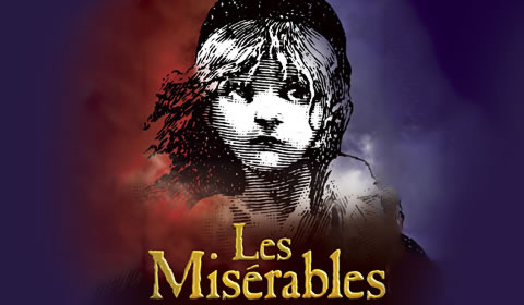 Poster of Les Miserables at Queen's Theatre