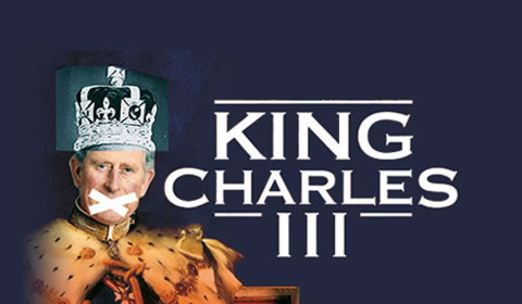 Poster of King Charles III at Wyndham's Theatre